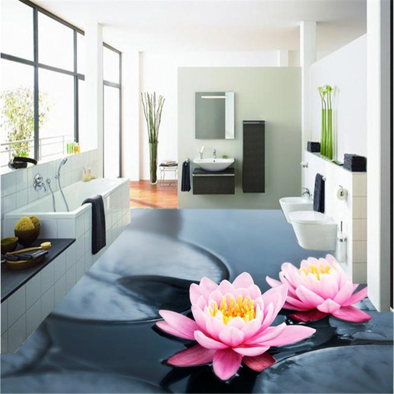 beibehang 3D floor mural wear non - slip waterproof thickening wear self - adhesive PVC wallpaper wall stickers wall paper 3d недорого