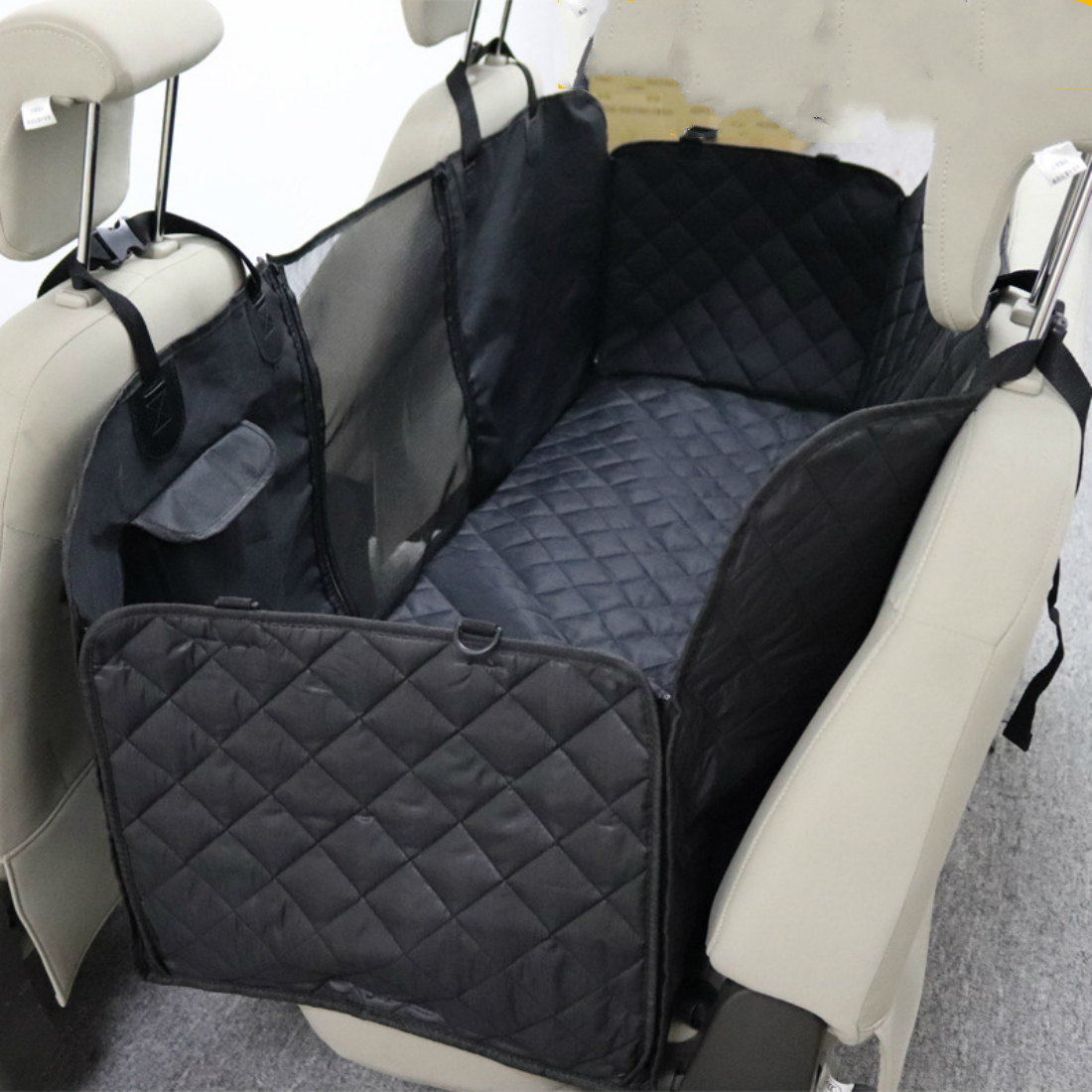 Portable Pet Dog Cat Car Rear Back Seat Carrier Cover Waterproof Mat Blanket Hammock Cushion Protector Quilted Non-slip