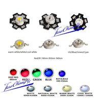100 PCS 1 W de Alta Potência Chip de LED UV IR light-emitting diode Contas de Luz Branca Vermelha