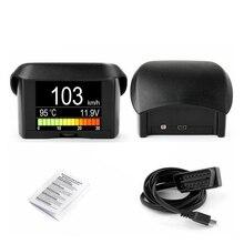 цена на Universal OBD Driving Computer Display Coolant Water Temperature Gauge Voltage Tachometer Speed Digital Meter Display Fault Code
