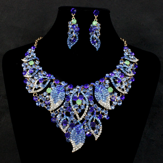 Wedding Bridal Jewelry Sets Indian Jewellery Statement Necklace Earring For Brides Bridesmaid Accessories Valentine S Day Gift