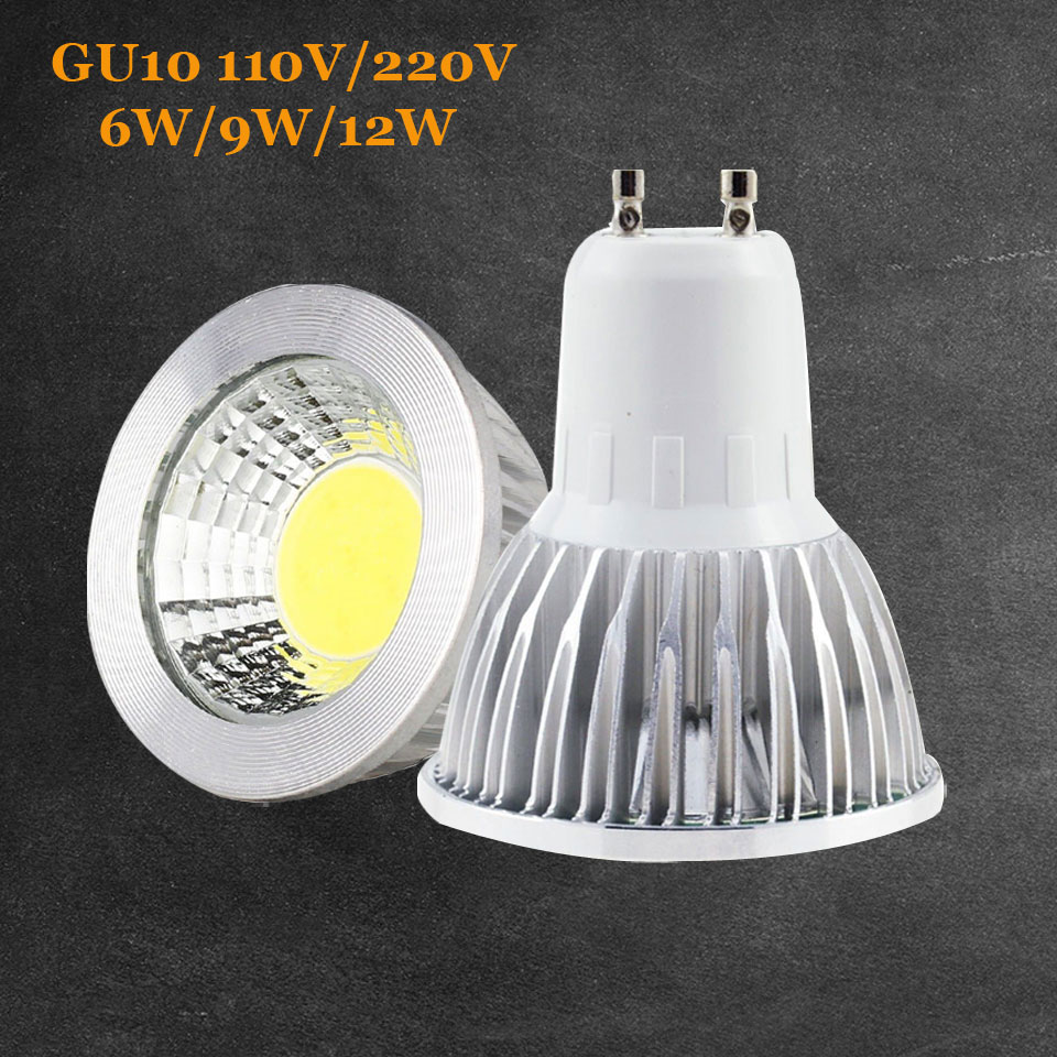 Led Spot Gu10 Led Spotlight Gu10 6w 9w 12w 85 265v Lampada Led Lamp 220v 110v Gu 10 Spot Lights Candle Luz Led Bulbs Lighting For Home Decor In Led Bulbs Tubes