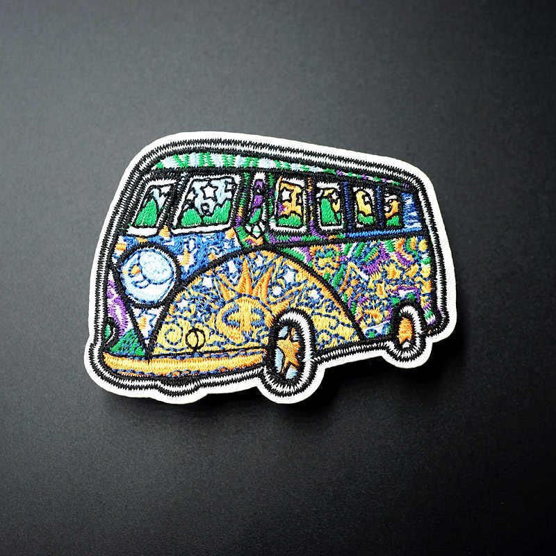 Otobüs Boyutu: 5.8x6.7 cm Giyim için Işlemeli Yama üzerinde Demir Yamalar Aplike Sevimli Kumaş Elbise ayakkabı çantaları Dekorasyon Yamalar