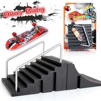 Nuevos Mini Dedo Skate Formacion Juego De Mesa Dedo Patinaje Con