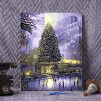 Framed Painting By Number Wall Paiting Picture Oil Painting For Living Room 4050 Christmas In New