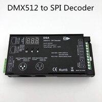 1024 dots DMX512 to SPI Converter DSA DMX SPI singnal Decoder support WS2811,TM1804,TM1809,TM1812 driving IC, for led dot light