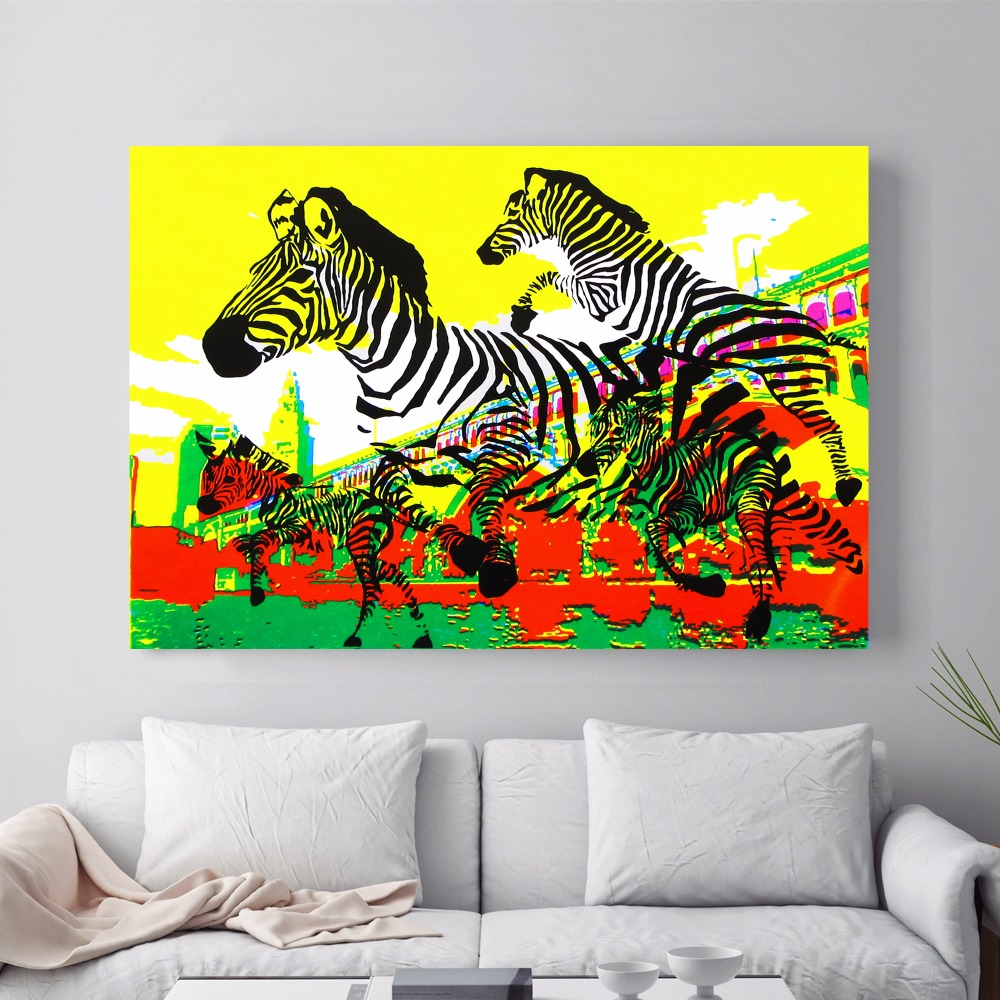 Leopard Bedroom Ideas For Painting: 3 Piece Abstract Zebra Canvas Art Print Painting Poster