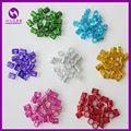 ( 100pcs/bag Mix Color ) Colorful Dreadlock Beads Adjustable Hair Braid Cuff Clip Hair Beads for Dreadlocks Jumbo Braiding Hair