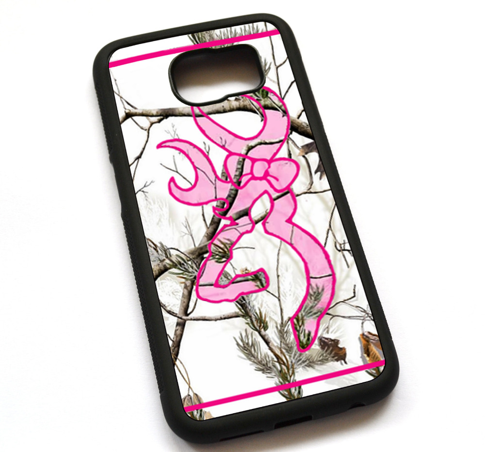 pretty nice 67f4b f3f57 US $13.5 |Mossy Oak Camo Pink List Logo Snow White Case Cover, Case For  Samsung Galaxy S5 S6 S7 S8 S8 Plus-in Fitted Cases from Cellphones & ...