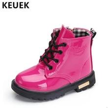цены на Autumn Children Boots PU Leather Waterproof Fashion boots Girls Boys Baby shoes Winter Snow boots Kids Ankle boots 020  в интернет-магазинах
