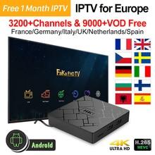 Europa IPTV Italia HK1 Android 7,1 Tv Box 4 K reproductor multimedia IPTV Francia árabe Canadá Portugal españa Reino Unido Italia TV IP francesa de Turquía