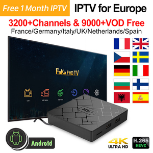 Image 1 - אירופה IPTV איטליה HK1 אנדרואיד 7.1 טלוויזיה תיבת 4 K Media Player IPTV צרפת ערבית קנדה פורטוגל ספרד בריטניה Italia טורקיה צרפתית IP טלוויזיה