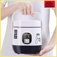 Quality 1.2L mini rice cooker with Stainless Steel 2 layers Steamer Multifunction Cook Pot insulation heating cooker 2 3 people