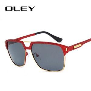 Image 3 - OLEY Marka Unisex Klasik Erkek Güneş Gözlüğü Polarize Erkek güneş gözlüğü Kadınlar Için Erkekler óculos de sol Kabul Logo Özelleştirme