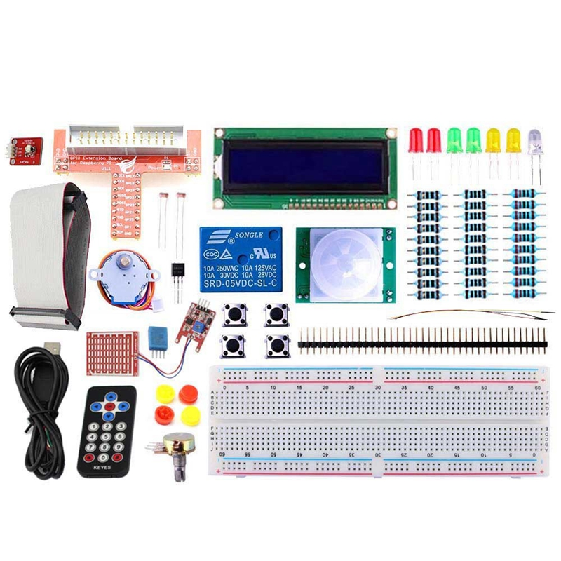 Elecrow Raspberry Pi Starter Kit Learning GPIO Electronics DIY Basic Kit IR Receiver Sensor/Switch/LCD/<font><b>DS18B20</b></font> With Box Packing image