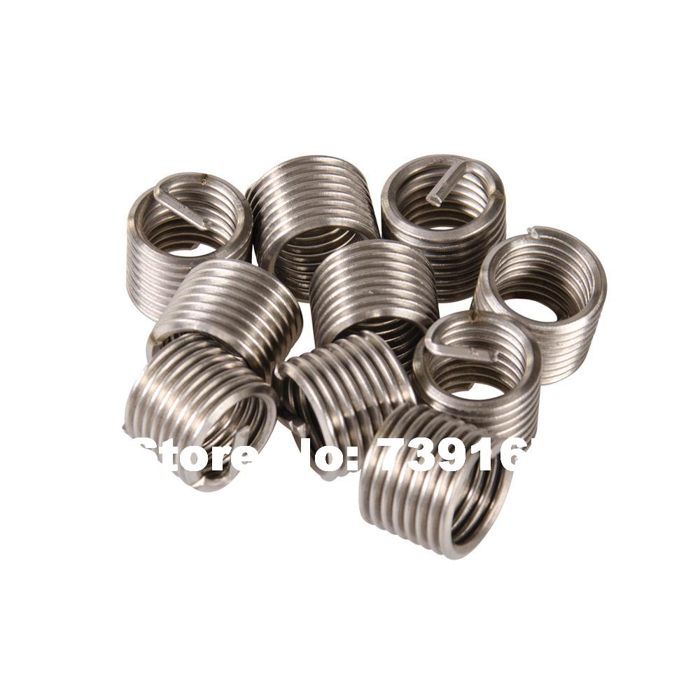 10PCS M14 X 1.25 X 12.4mm Auto Thread Repair Helical Coil Wire Insert Kit For Helicoil Motorcycle Garage Tools ST0059K1