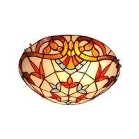 Европейском стиле светодиодный потолочный светильник Теплый творческой круглый стеклянный спальни лампа Джейн Европейский пассаж крыльц