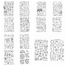 4*6inches Animals Clear Stamps Seal for DIY Scrapbooking Album Crafts Decor Cards Transparent Stempels Silicone Stamp New 4 6inches animals clear stamps seal for diy scrapbooking album crafts decor cards transparent stempels silicone stamp 2019 new