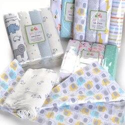 4 шт./лот детское одеяло s Новорожденные подгузники из муслина 100% хлопок детское Пеленальное Одеяло Для Фотография новорожденных детей мусл...