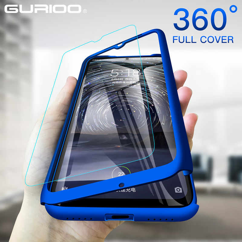 360 Full Cover Phone Case untuk Xiaomi Redmi Note 9S 9 8T 8 7 6 5 4 Pro 9 9A 9C 8A 7A 6A 5A 4A 4X 5 Plus Hard Shockproof Funda