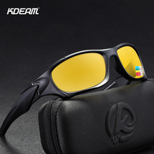 KDEAM 2019 Fashion Sports Polarized Goggles Male Driving Glasses Night Vision Ladies With Case KD0623