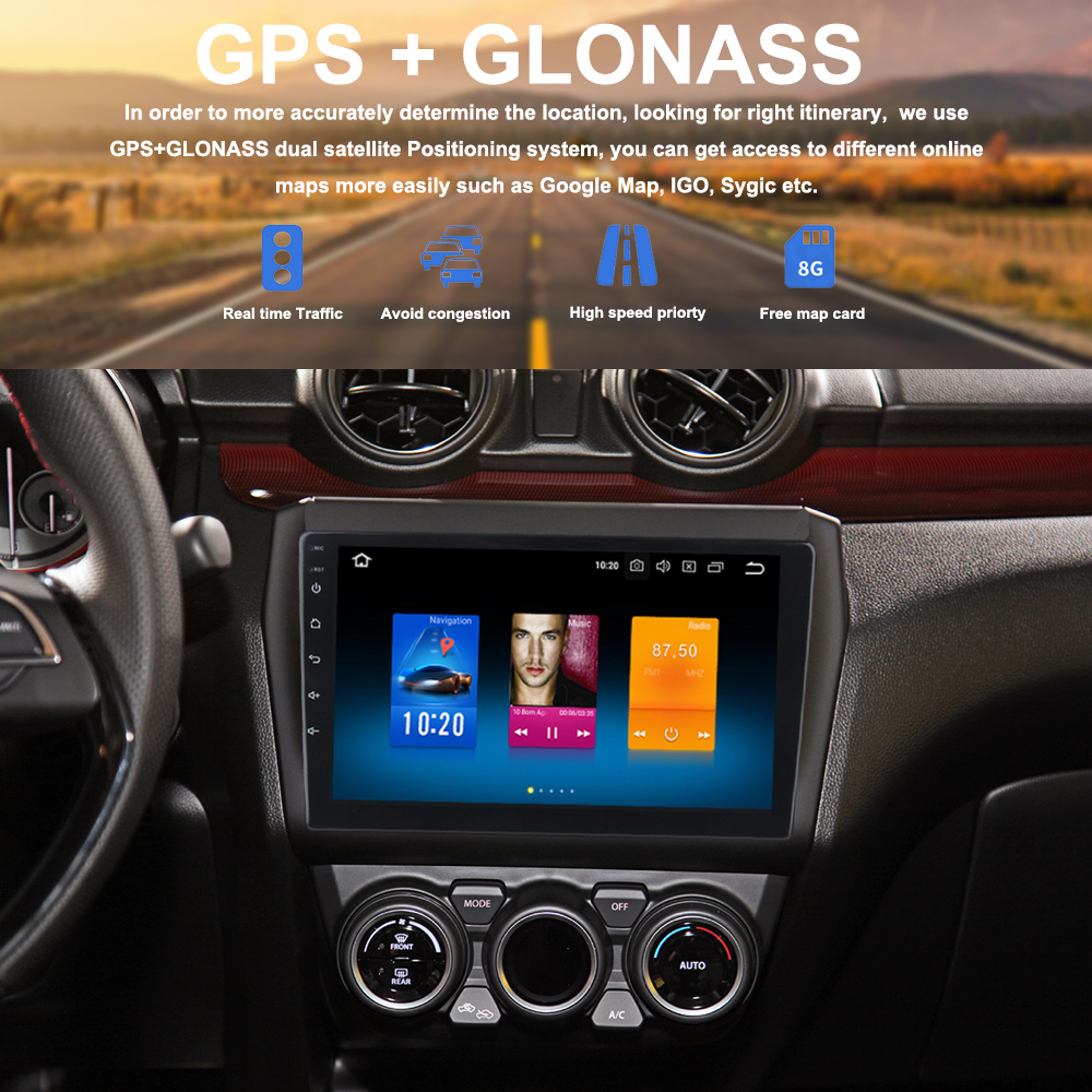 Car Multimedia for Suzuki Swift Autoradio 2018 2017 2019 2 din android 9 0 Headunit with