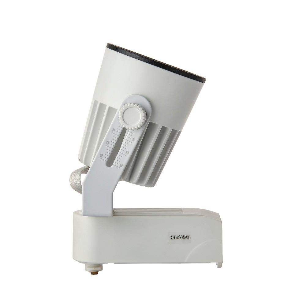 Free Shipping 15W High Power LED track light for store/shopping mall lighting lamp Color optional White/black Spot light 4pcs