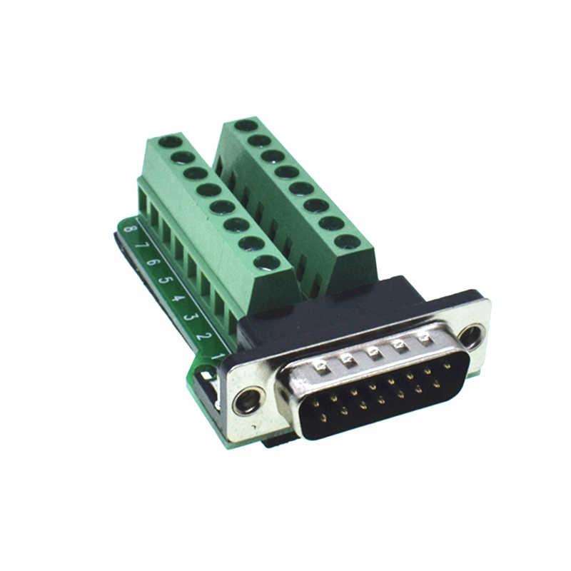 D-SUB コネクタ DB15 女性/コネクタアダプタジャックビデオケーブル端子ブレイクアウト PCB ボードコネクタ