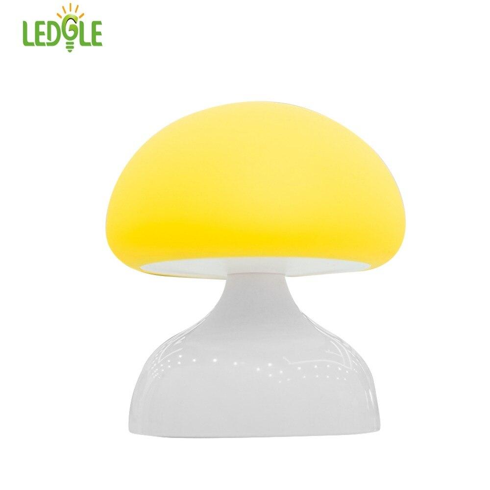 LEDGLE Cute Mushroom Night Light LED USB Lighting Creative Nursery Lamps Warm Bedside La ...
