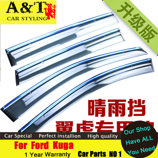 A & T estilo do carro Para Kuga Chuva escudo 2013-2015 Para tiras Kuga Chuva engrenagem com brilhante capa de chuva capa de chuva sobrancelha