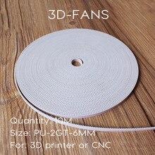 10 М 3D Принтер PU со Стальным Сердечником 2GT/GT2 Ремень Грм 6 мм Ширина