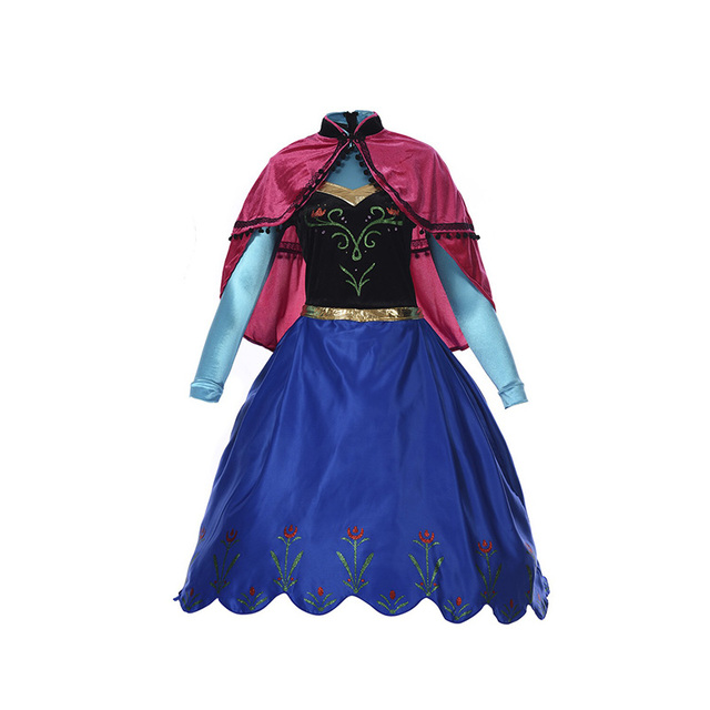 Girls Halloween Costume Kids Anna Princess Shawl Dress Long Sleeve Suits Luxury Satin For Teenage Children  sc 1 st  AliExpress.com : anna halloween costume  - Germanpascual.Com