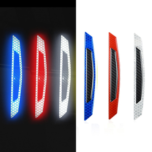 Image 3 - Car  5D Carbon Fiber Sticker Super reflective Stickers Decals Auto Reflective Strip Warning Car Styling Automobiles Accessories