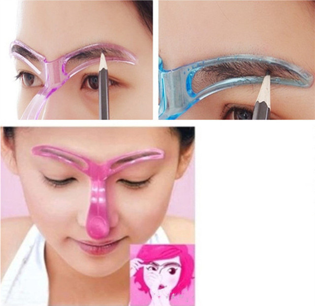 1Pcs Professional Makeup Eyebrow Stencils Drawing Eyebrow Template Stencil for Eyebrow Shaper Makeup Stencil Mold Cosmetic Tool 3