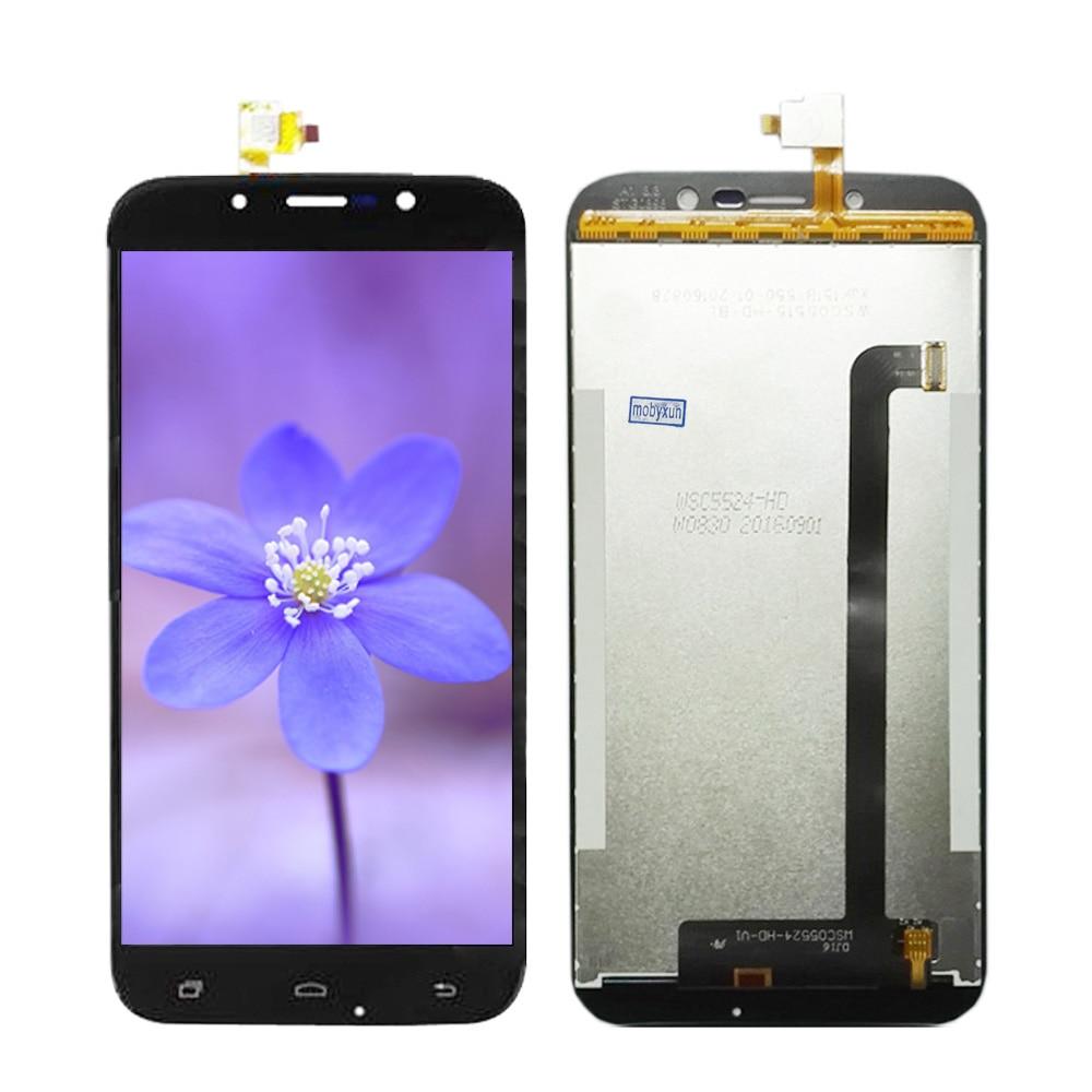 Negro/oro para DEXP ES255 lcd 100% probado 1280*720 5,5 pulgadas pantalla para DEXP Ixion ES255 fuego pantalla LCD + Touch digitalizador de vidrio