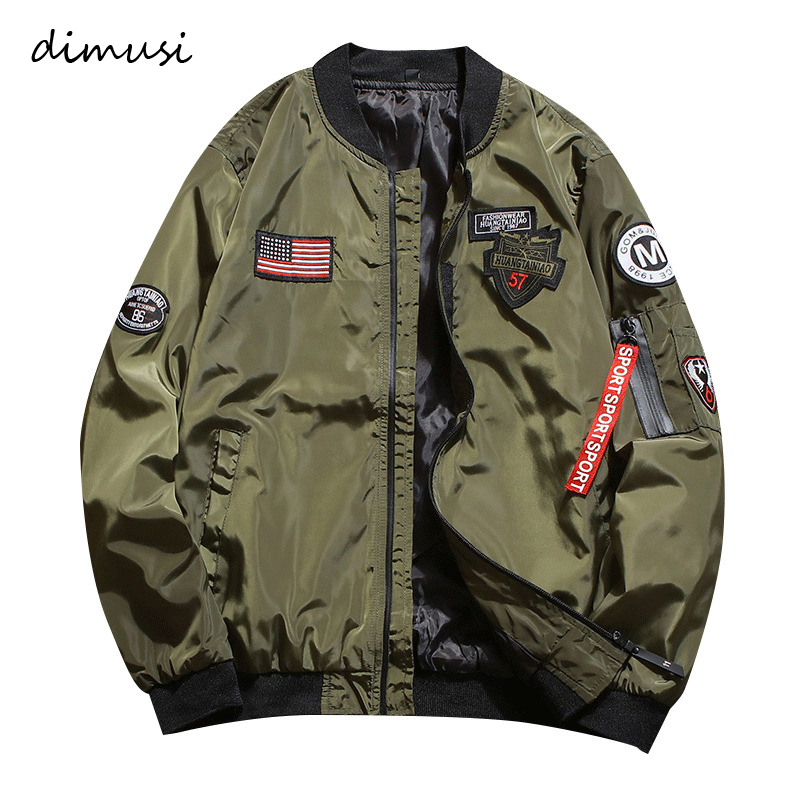 DIMUSI Mens Bomber Jackets Fashion Men Anorak Hip Hop Streetwear Jackets Male Casual  Baseball Uniform Coats Clothing 4XL,YA787