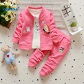 Children's Clothing Suits 2017 New Arrival Baby Girls Clothes Cotton 3 Colors  Autumn Spring  Kids Clothes 3pcs T2738