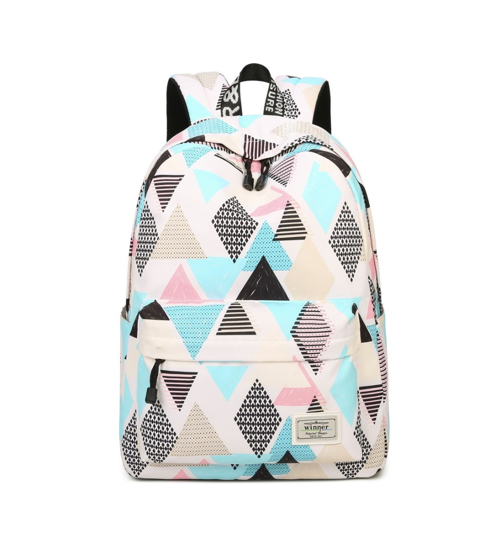 Fashion Lingge Print Backpack Cute School Backpack for Girls Women Casual Backpack Fit for 15.6 Inches LaptopFashion Lingge Print Backpack Cute School Backpack for Girls Women Casual Backpack Fit for 15.6 Inches Laptop