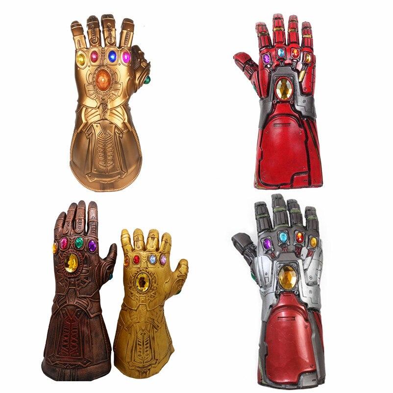 Avengers Endgame super-héros Marvel Iron Man Cosplay bras Tony Stark Infinity gantelet Thanos Gem gants Latex déplacer doigt gant