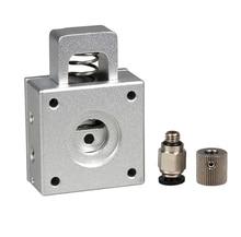 3D Printer Extruder Kit Simplified Version Bulldog Extruder Aluminium Alloy Extruder Head for Reprap Kossel Prusa Printer