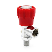 PCP Paintball Din Valve Tank ON OFF Valves With Gauge M18 Male G5 8 Female 4500psi