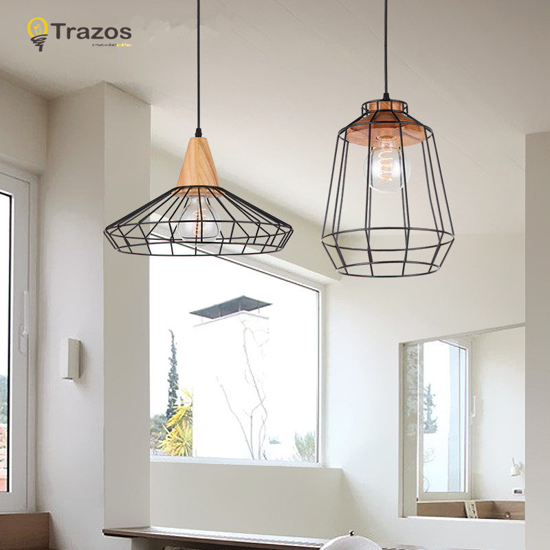 NEW Vintage Iron Pendant Light Industrial Loft Retro Droplight Bar Cafe Bedroom Restaurant American Country Style Hanging Lamp vintage iron pendant light loft retro droplight bar cafe bedroom restaurant metal cage ith led bulb hanging lamp ac110v 220v e27