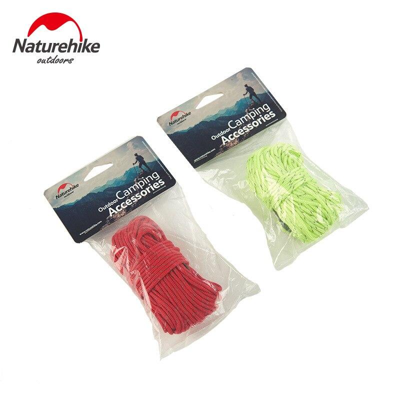 Naturehike 4x4m ao ar livre forte fluorescente guyline tenda acessórios cara linha corda vento acampamento lona/cabo de encerado