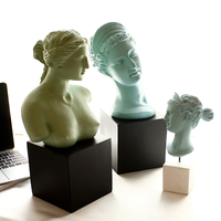 Venus Goddess Bust Art Sculpture Statue Home Decoration Nordic Style Resin Craftwork Roman Mythology L3388
