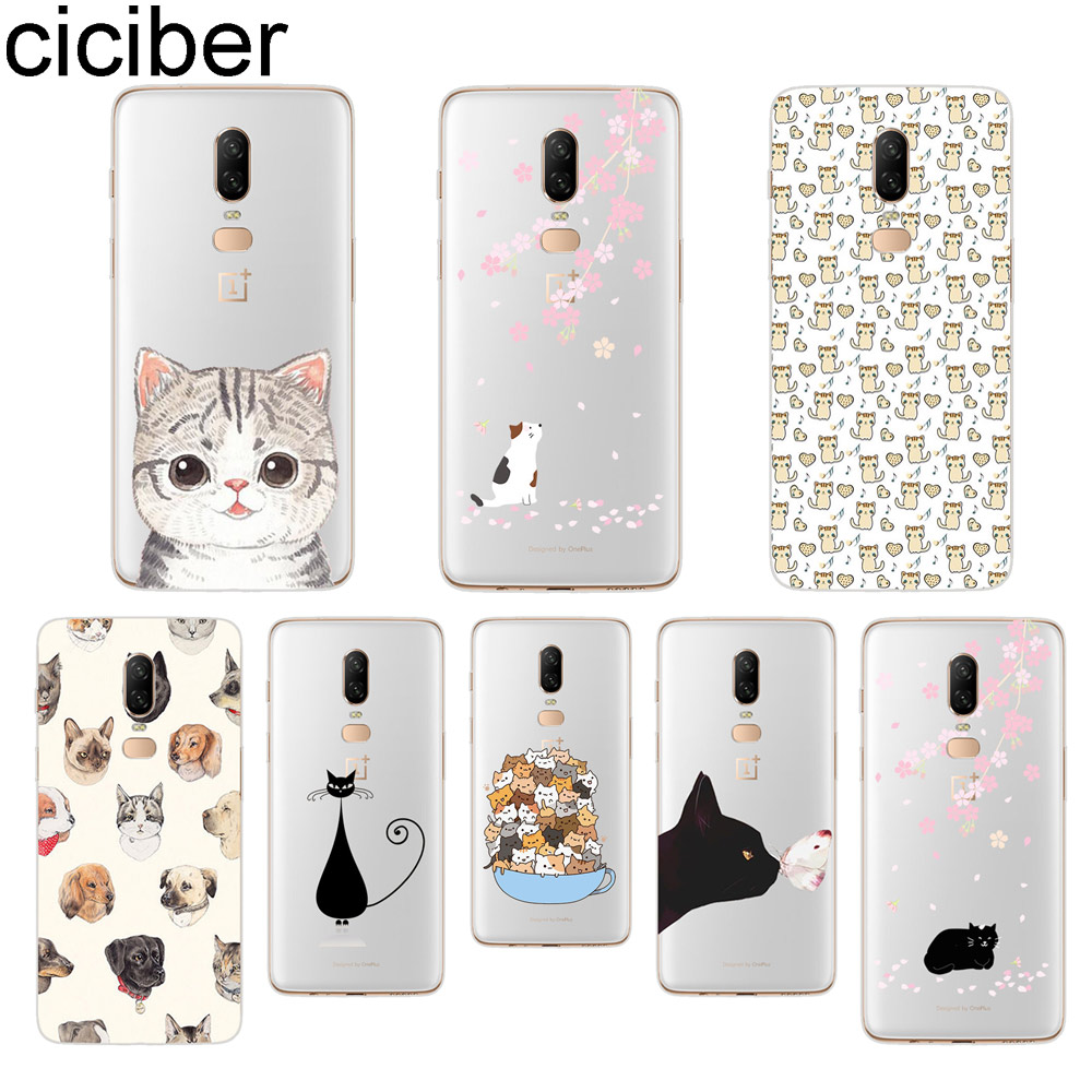 ciciber Lovely Cat Phone Case For font b Oneplus b font font b 7 b font
