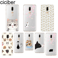 ciciber Lovely Cat Phone Case For Oneplus 7 Pro 6 5 T Soft TPU Back Cover Clear Coque for 1+7 Pro 1+ 6 1+5 T Fundas Shell Coque