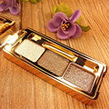 3Colors Flash Diamond Eyeshadow Nude Makeup Pallete Waterproof Luminous Glitter Cosmetics Eye Makeup Tools