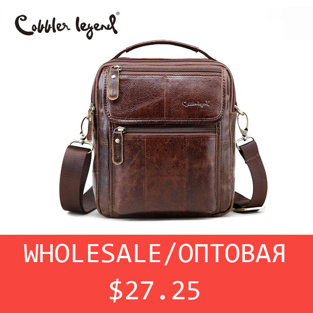 Cobbler Legend Whole Brand Men Genuine Leather Bag Dropshipping Business Reer Vintage Shoulder Male Quality Handbag In Crossbody Bags From