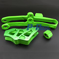 Motocross Chain Swingarm Chain Guide Slider Roller Kit Green For Kawasaki KX250F KX450F KXF250 KXF450 09-16