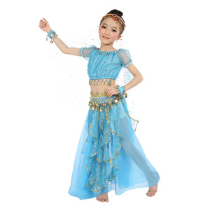 Image 3 - 2020 חדש סגנון ילדים בטן ריקוד תלבושות מזרחי תלבושות ריקוד בטן ריקוד רקדנית בגדי הודי ריקוד תלבושות 5 Pcs עבור ילדים